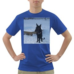 Snowy Gsd Men s T Shirt (colored)