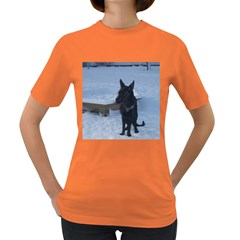 Snowy Gsd Women s T-shirt (Colored)