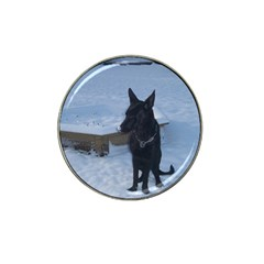Snowy Gsd Golf Ball Marker (for Hat Clip)