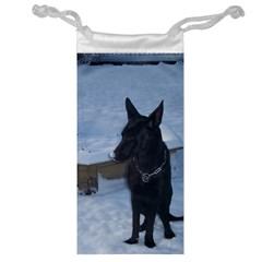 Snowy Gsd Jewelry Bag