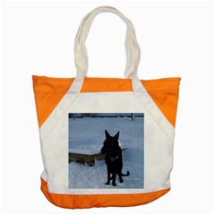 Snowy Gsd Accent Tote Bag