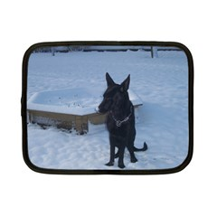 Snowy Gsd Netbook Sleeve (small)