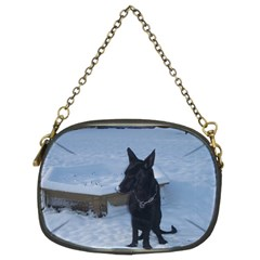 Snowy Gsd Chain Purse (two Sided)
