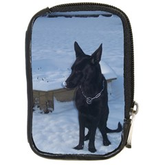 Snowy Gsd Compact Camera Leather Case