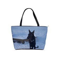 Snowy Gsd Large Shoulder Bag