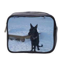 Snowy Gsd Mini Travel Toiletry Bag (two Sides)