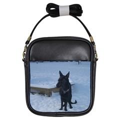 Snowy Gsd Girl s Sling Bag