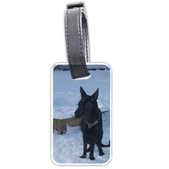 Snowy Gsd Luggage Tag (Two Sides)