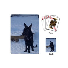 Snowy Gsd Playing Cards (mini)
