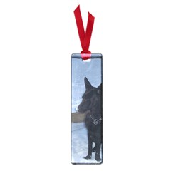 Snowy Gsd Small Bookmark
