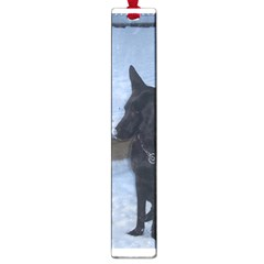 Snowy Gsd Large Bookmark