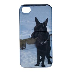 Snowy Gsd Apple Iphone 4/4s Hardshell Case With Stand