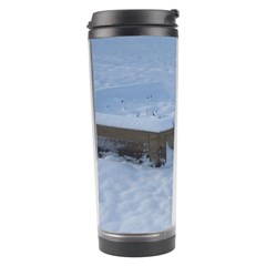 Snowy Gsd Travel Tumbler