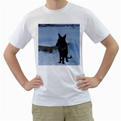 Snowy Gsd Men s T-Shirt (White)