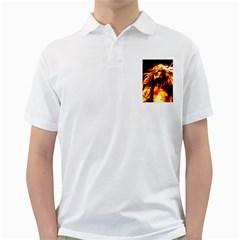 Golden God Men s Polo Shirt (White)