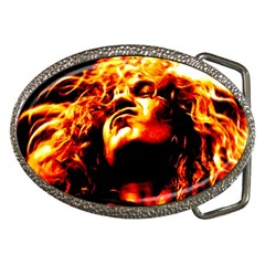 Golden God Belt Buckle (oval)