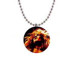 Golden God Button Necklace