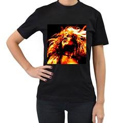Golden God Women s T Shirt (black)