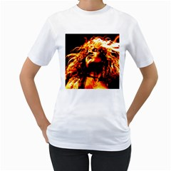 Golden God Women s T-Shirt (White)