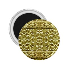 Gold Plated Ornament 2 25  Button Magnet