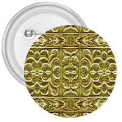Gold Plated Ornament 3  Button