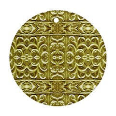 Gold Plated Ornament Round Ornament