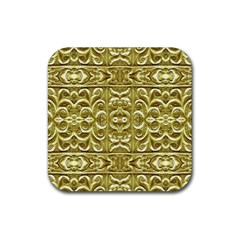 Gold Plated Ornament Drink Coasters 4 Pack (square)