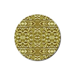 Gold Plated Ornament Drink Coaster (Round)