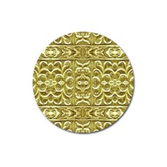 Gold Plated Ornament Magnet 3  (Round)