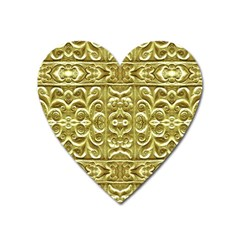 Gold Plated Ornament Magnet (Heart)