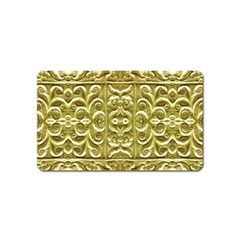 Gold Plated Ornament Magnet (name Card)