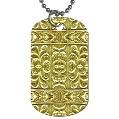 Gold Plated Ornament Dog Tag (two Sided)