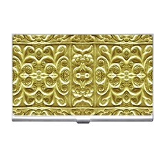 Gold Plated Ornament Business Card Holder