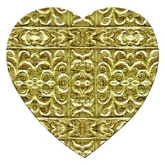 Gold Plated Ornament Jigsaw Puzzle (Heart)