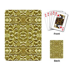 Gold Plated Ornament Playing Cards Single Design