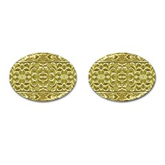 Gold Plated Ornament Cufflinks (Oval)