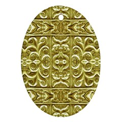 Gold Plated Ornament Oval Ornament (two Sides)