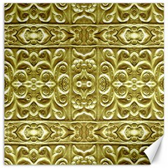 Gold Plated Ornament Canvas 12  x 12  (Unframed)