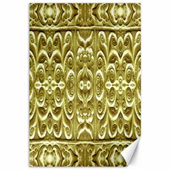 Gold Plated Ornament Canvas 12  X 18  (unframed)
