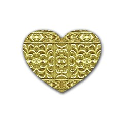Gold Plated Ornament Drink Coasters 4 Pack (Heart)