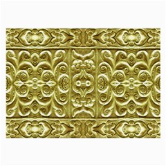Gold Plated Ornament Glasses Cloth (large, Two Sided)