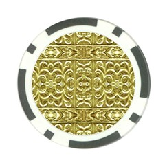 Gold Plated Ornament Poker Chip (10 Pack)