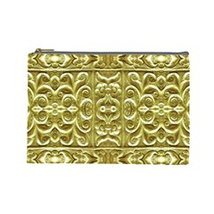 Gold Plated Ornament Cosmetic Bag (large)