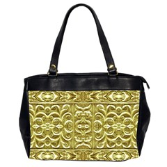 Gold Plated Ornament Oversize Office Handbag (two Sides)