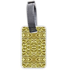 Gold Plated Ornament Luggage Tag (Two Sides)