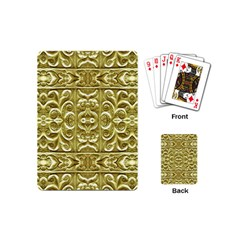Gold Plated Ornament Playing Cards (Mini)