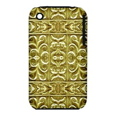Gold Plated Ornament Apple iPhone 3G/3GS Hardshell Case (PC+Silicone)