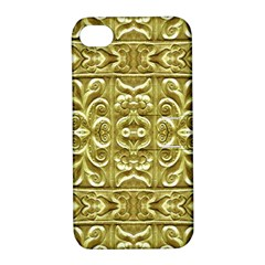 Gold Plated Ornament Apple Iphone 4/4s Hardshell Case With Stand