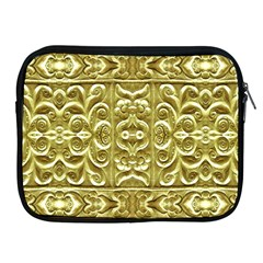 Gold Plated Ornament Apple Ipad Zippered Sleeve