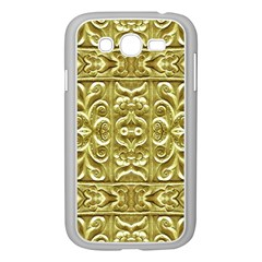 Gold Plated Ornament Samsung Galaxy Grand DUOS I9082 Case (White)